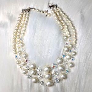 Jewelry - Czech Crystal & Pearl Necklace